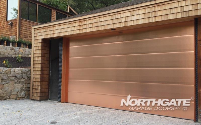 MC0005: Flush Smooth Copper Face Door.