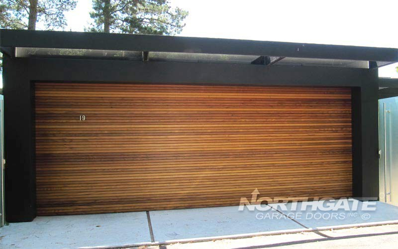 Plank flush recessed northgate garage doors inc for Western garage