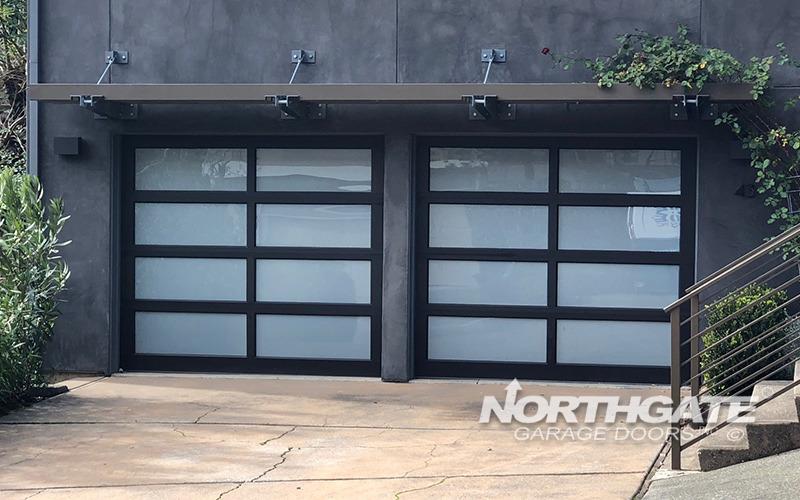 MC0072: Modern Classic Bronze Anodized Aluminum Frame, White Laminate  Tempered Glass Panels.