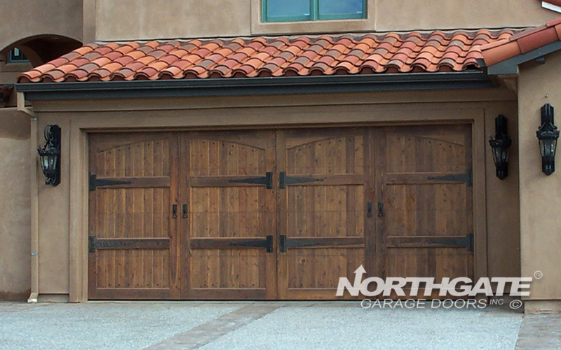 CS0022 Stain grade incense (knotty) cedar arch top 3050 double door & Wood Stain Grade | Northgate Garage Doors Inc.™
